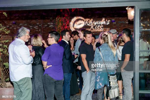 Guests enjoy An Evening With Rhonda's Kiss Charity at Beauty Essex on October 18 2017 in Los Angeles California