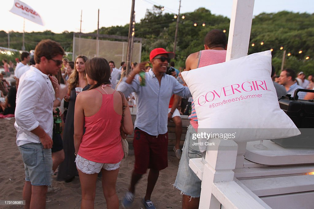Guests enjoy Covergirl's #EasyBreezySummer event at The Surf Lodge on July 6, 2013 in Montauk, New York.