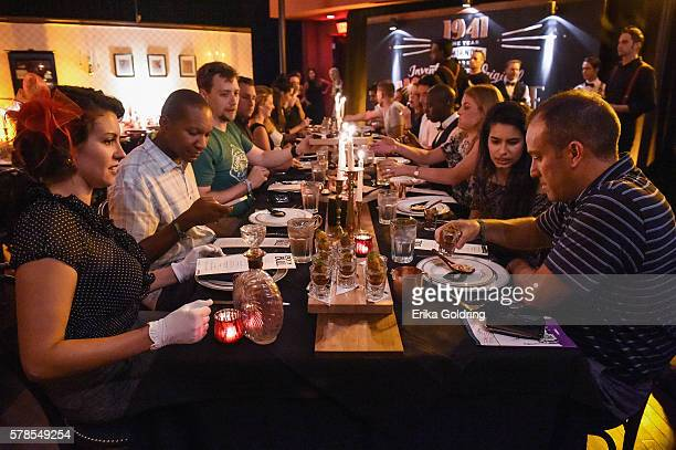 Guests enjoy dinner and delicious Moscow Mules at SMIRNOFF vodka's celebration of the 75th Anniversary of the original Moscow Mule during Tales of...