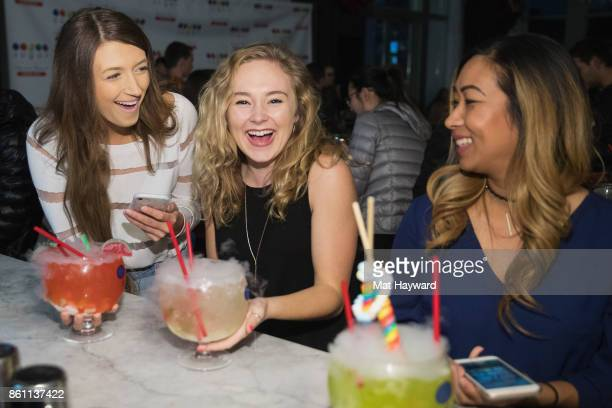 Guests enjoy food and drinks as Scott Disick visits the Sugar Factory American Brassiere on October 13 2017 in Bellevue Washington