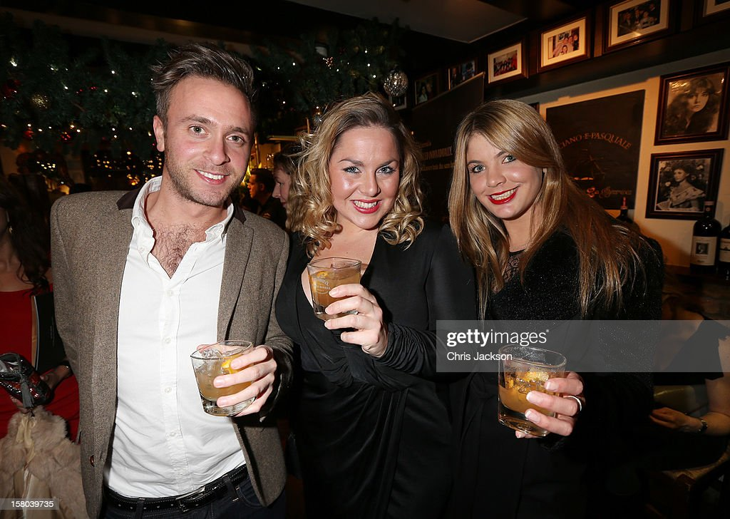 Guests enjoy Jack Daniels Single Barrel, 'Curtain Raiser' cocktails at the pre drinks for The Old Vic's 24 Hour Musicals Celebrity Gala 2012 at La Barca on December 9, 2012 in London, England.
