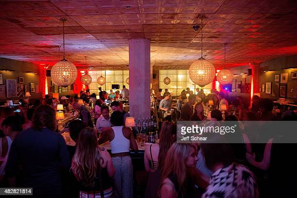 Guests enjoy Neon Gold Wrap Party @ Soho House Chicago with BACARDI on August 2 2015 in Chicago Illinois