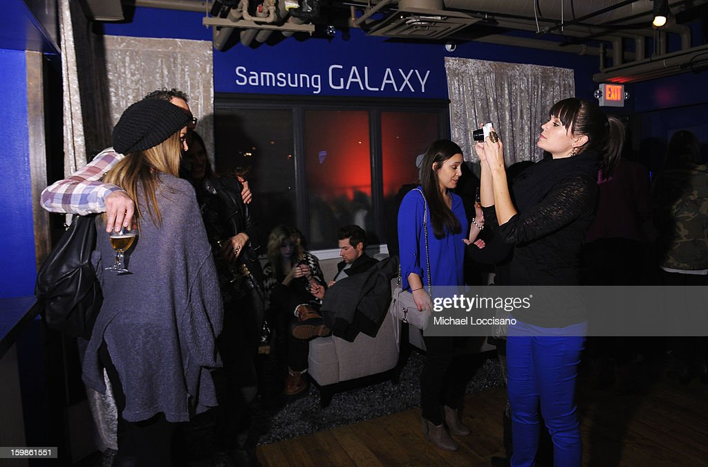 Guests enjoy Night 4 of Samsung Galaxy Lounge at Village At The Lift 2013 on January 21, 2013 in Park City, Utah.