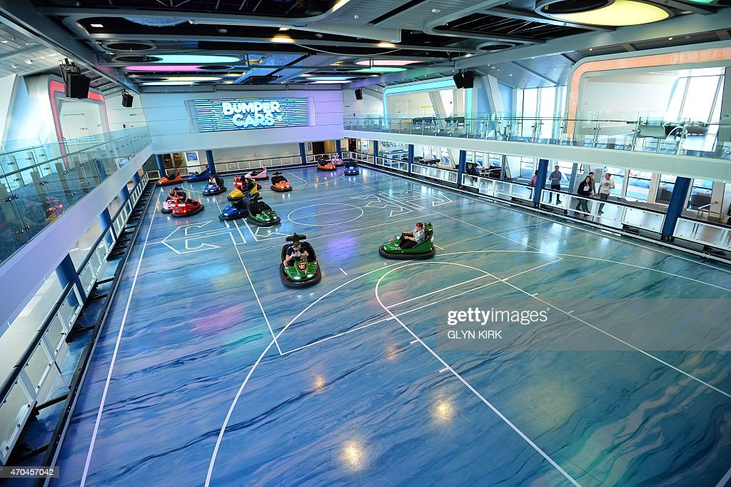 Guests Enjoy The Bumper Cars On Royal Caribbean39s Latest