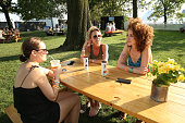 Guests enjoy the VIP area on day one of The Panorama Music Festival at Randall's Island on July 22 2016 in New York City