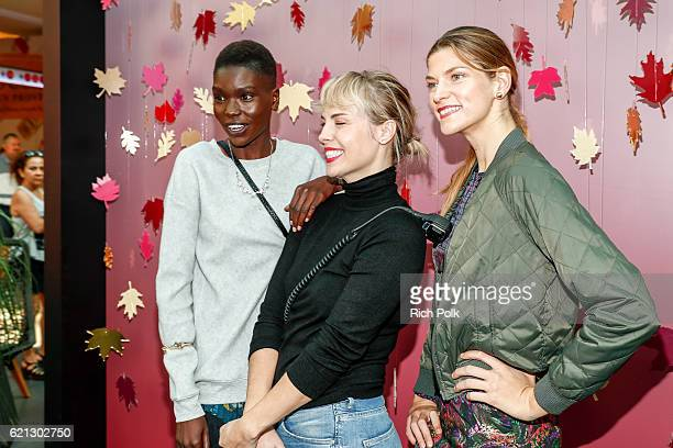 Guests enjoy the Westfield Topanga x Ellecom Fall Trend Report at Westfield Topanga on November 5 2016 in Canoga Park California