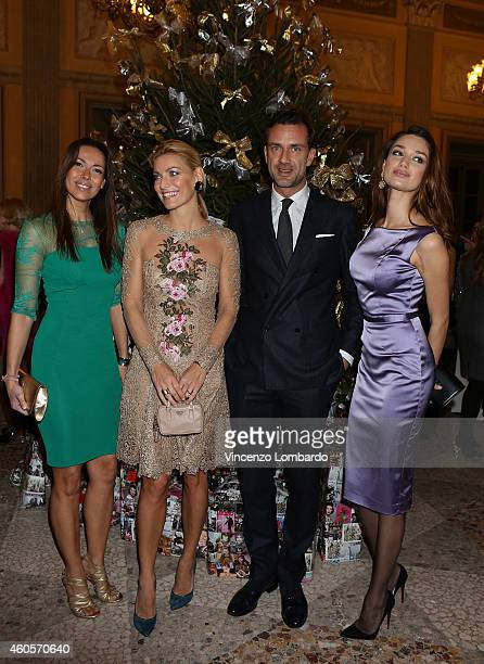 Guests Federica Fontana and Anastasia Pavlenko attends the 'Fondazione IEO CCM' Christmas Dinner For on December 16 2014 in Monza Italy