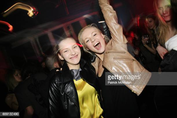 Guests guest and guest attend RADAR ENTERTAINMENT THE LAST MAGAZINE Toast Fashion Week at Studio 385 Broadway on February 20 2009 in New York City