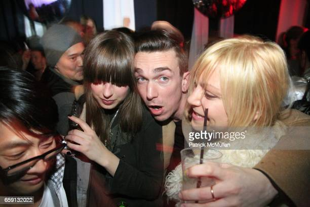 Guests guest guest and guest attend RADAR ENTERTAINMENT THE LAST MAGAZINE Toast Fashion Week at Studio 385 Broadway on February 20 2009 in New York...