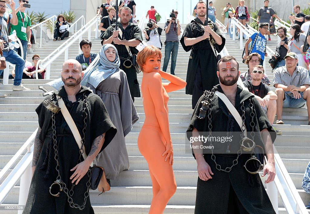 Guests in cosplay attend ComicCon International 2015 on July 10 2015 in San Diego California