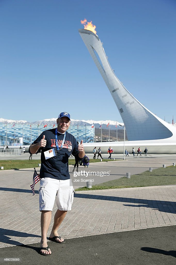 Guests In The Olympic Park Enjoy Warm Weather On Day Six Of Sochi 2014