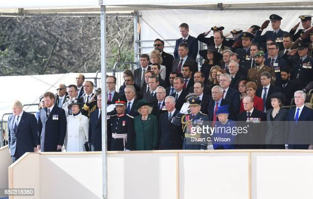 Guests including Boris Johnson Prince Harry Jeremy Corbyn Princess Anne the Princess Royal Camilla duchess of Cornwall Prince Charles Prince of Wales...
