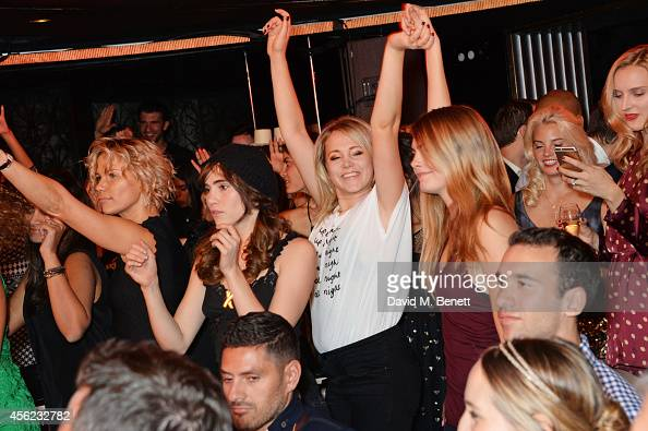 Guests including Suki Waterhouse Poppy Jamie and Cara Delevingne attend as Lauryn Hill performs at the Dover Street Arts Club on September 27 2014 in...