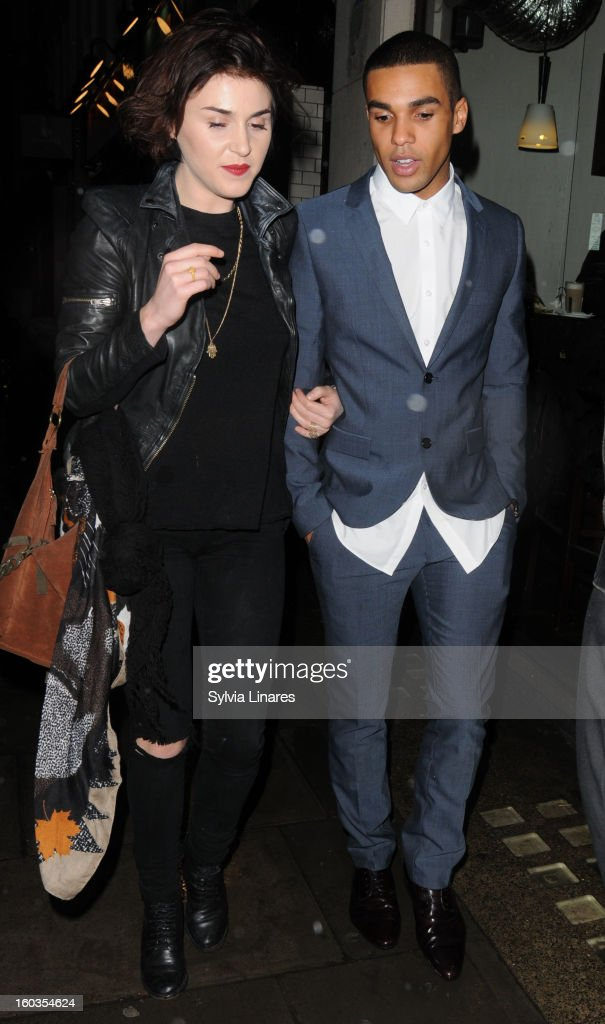 Guests leaving The Groucho Bar Restaurant on January 29, 2013 in London, England.