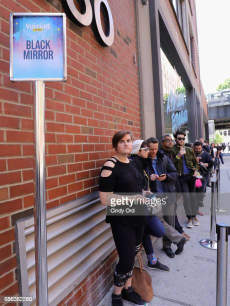 Guests line up for the Black Mirror panel during the 2017 Vulture Festival at Milk Studios on May 21 2017 in New York City