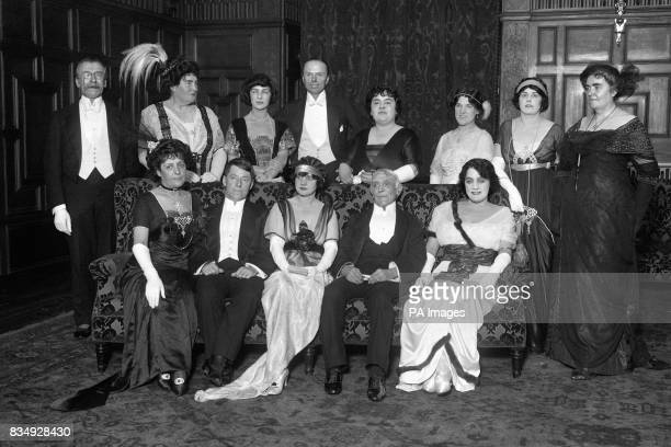Guests of the 'OP' Club's Dinner to George Edwardes Front Row left to right Phyllis Broughton Edmund Payne Gertie Millar Edward Royce Evie Greene...
