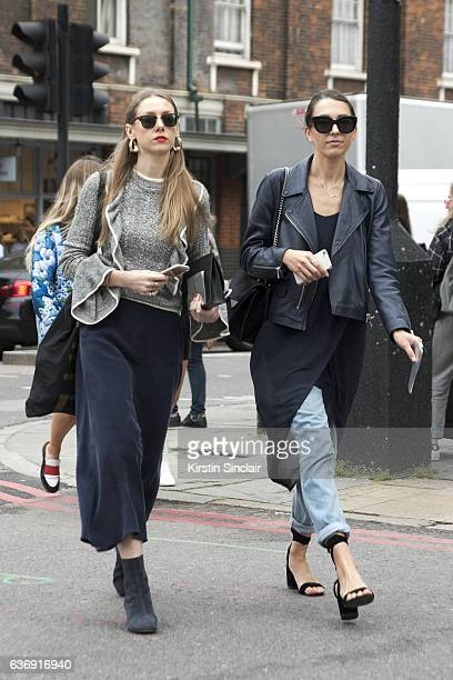 Guests on day 2 of London Womens Fashion Week Spring/Summer 2016 on September 17 2016 in London England