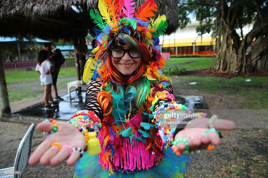 Guests onsite at Ultra Music Festival at Bayfront Park Amphitheater on March 27 2015 in Miami Florida