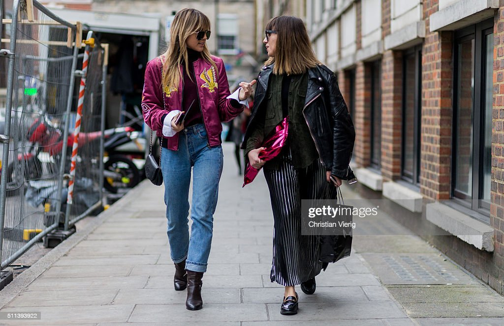 Guests outside Daks during London Fashion Week AW16 on February 19, 2016 in London, England, United Kingdom.