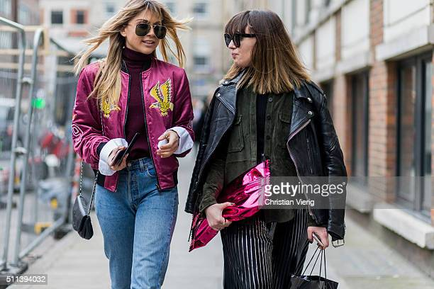 Guests outside Daks during London Fashion Week AW16 on February 19 2016 in London England United Kingdom