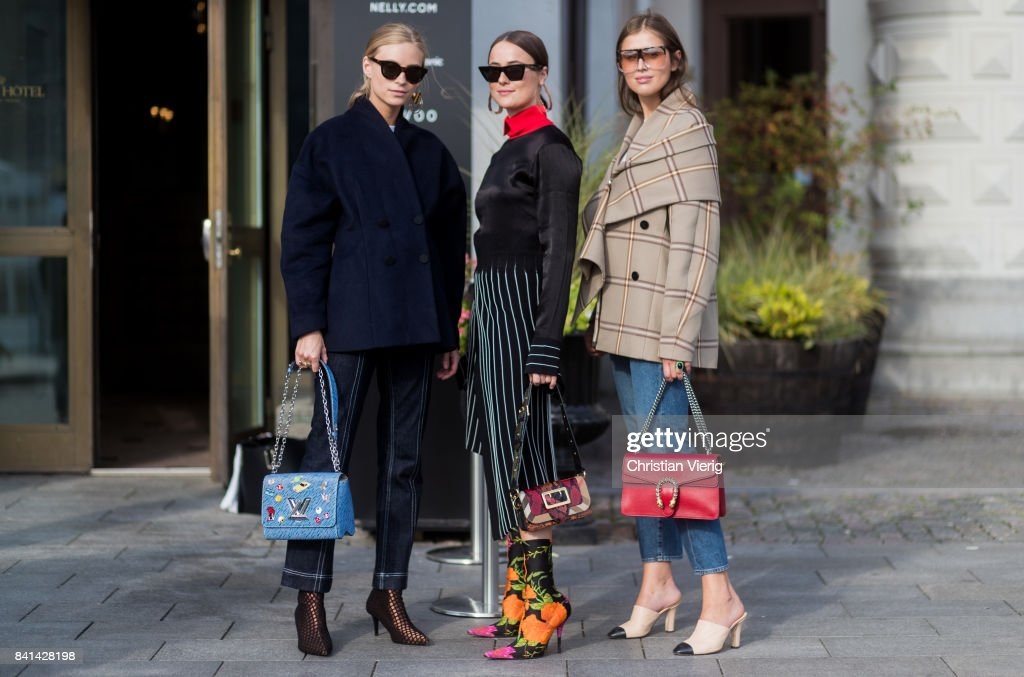 Guests outside House of Dagmar on August 31, 2017 in Stockholm, Sweden.