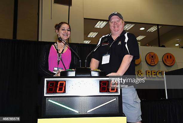 Guests participate in the Game Show Mania Team Trivia League during the 30th annual Nightclub Bar Convention and Trade Show at the Las Vegas...