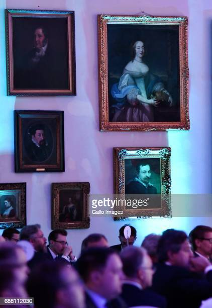 Guests participate in the Jubilee Gala of the 200th anniversary of the Warsaw Stock Exchange on May 24 2017 in Warsaw Poland During the gala the...
