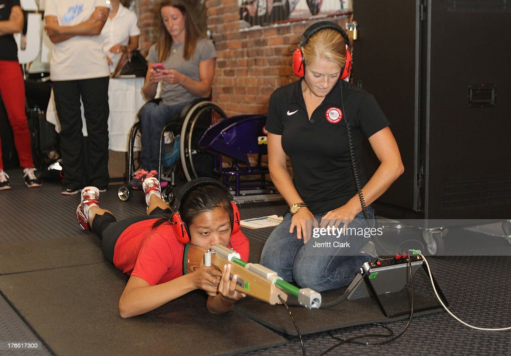 Guests participate in the Team USA High Performance Training Experience at 24 Hour Fitness on August 14, 2013 in New York City.