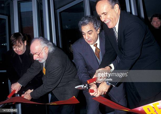 guests Placido Domingo and Rudolph Guiliani at the Grand Opening of New Tower Records Flagship Store Tower Records Flagship Store New York City