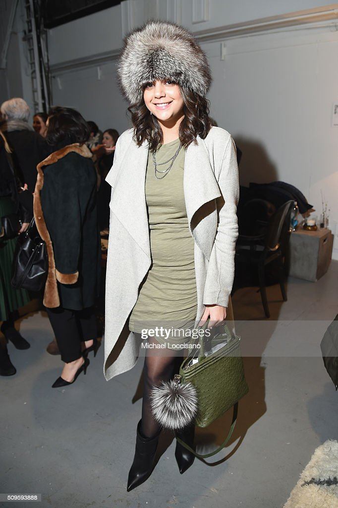 Guests pose at Fall 2016 New York Fashion Week at the Skylight at Clarkson sq on February 11, 2016 in New York City.