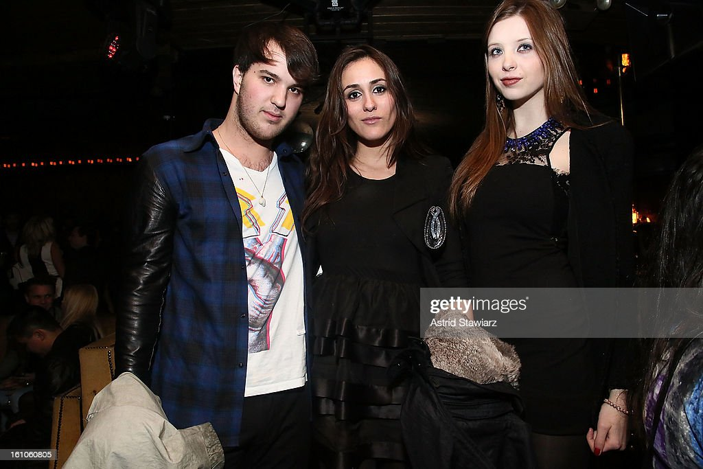 Guests pose for a photograph during The Charlotte Ronson Fall/Winter 2013 - After Party at 1 Oak on February 8, 2013 in New York City.
