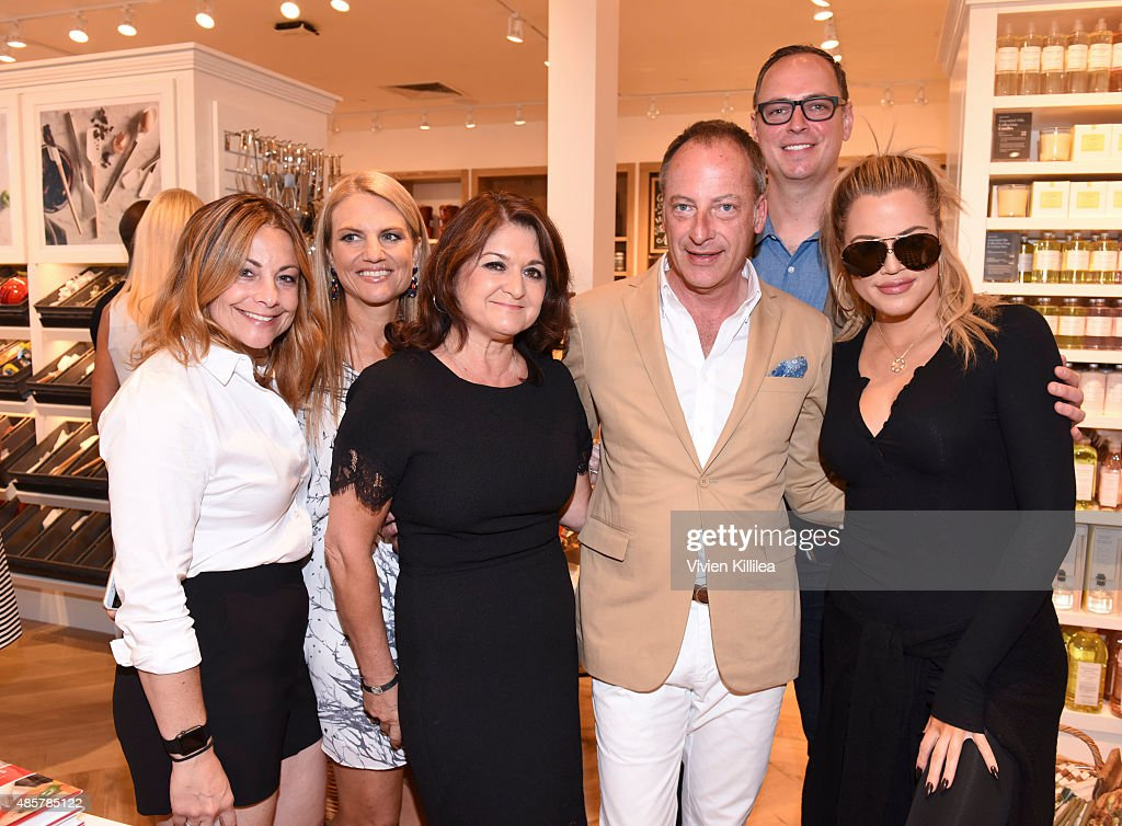 Guests Regional Vice President West at WilliamsSonoma Mark Allen Head of foods at WilliamsSonoma Shane Brogan and Khloe Kardashian attend...