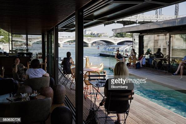 on board floating hotel off paris seine photos and images getty images. Black Bedroom Furniture Sets. Home Design Ideas