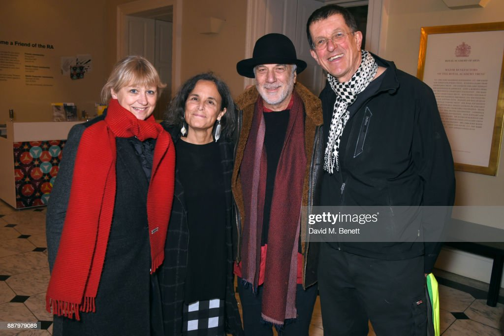guests, Ron Arad and Antony Gormley attend a private view of new exhibition 'From Life' at The Royal Academy of Arts on December 7, 2017 in London, England.