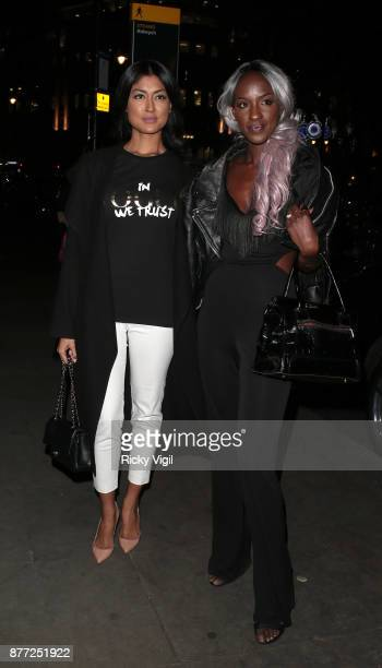 Guests seen attending LOTD x Louise Thompson launch party at STK London on November 21 2017 in London England