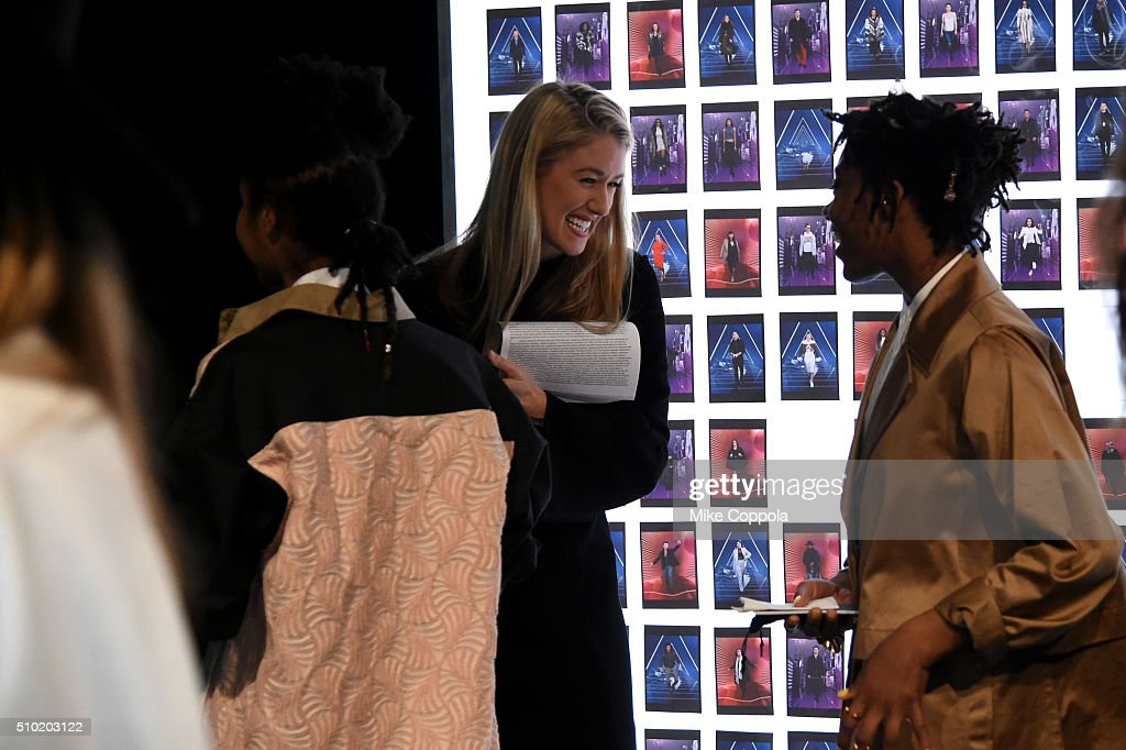 Guests seen in lobby at the Skylight at Moynihan Station during day 4 of New York Fashion Week: The Shows at XX on February 14, 2016 in New York City.