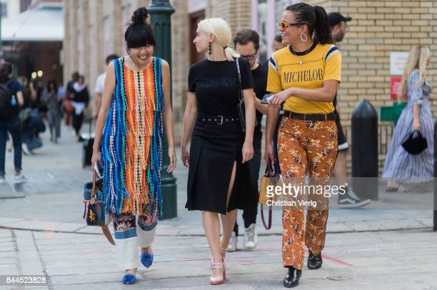 Guests seen in the streets of Manhattan outside Jason Wu during New York Fashion Week on September 8 2017 in New York City