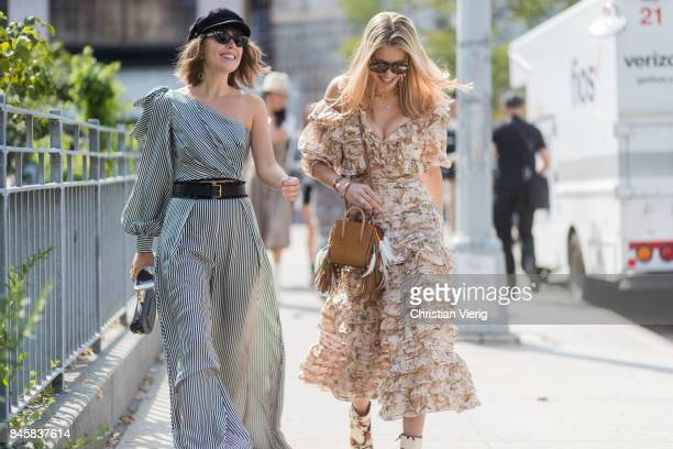 Guests seen in the streets of Manhattan outside Zimmermann during New York Fashion Week on September 11 2017 in New York City