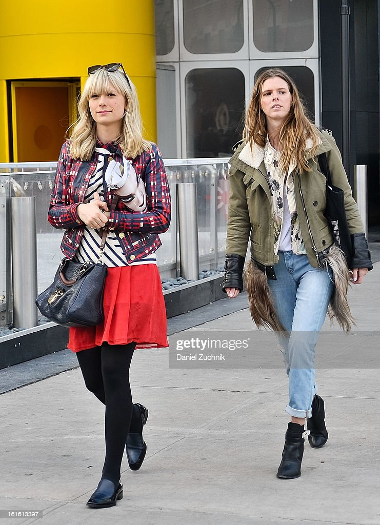 Guests seen leaving the Nonoo show wearing on February 12, 2013 in New York City.