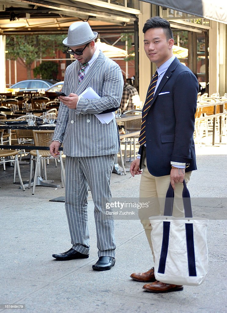 Guests seen outside the Gant show on September 12, 2012 in New York City.