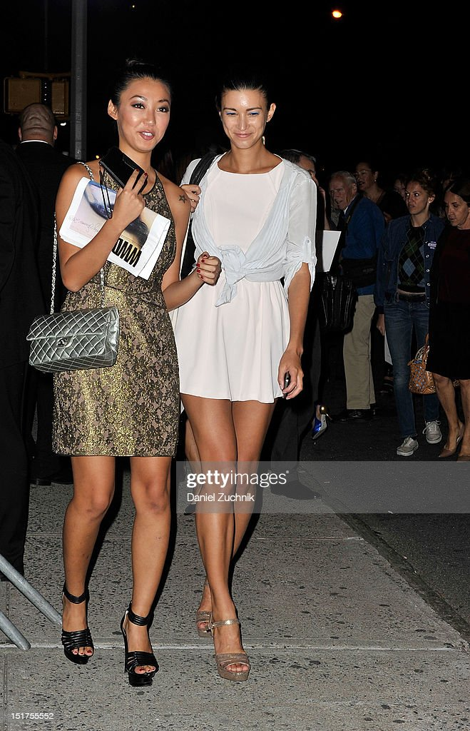 Guests seen outside the Marc Jacobs show on September 10, 2012 in New York City.