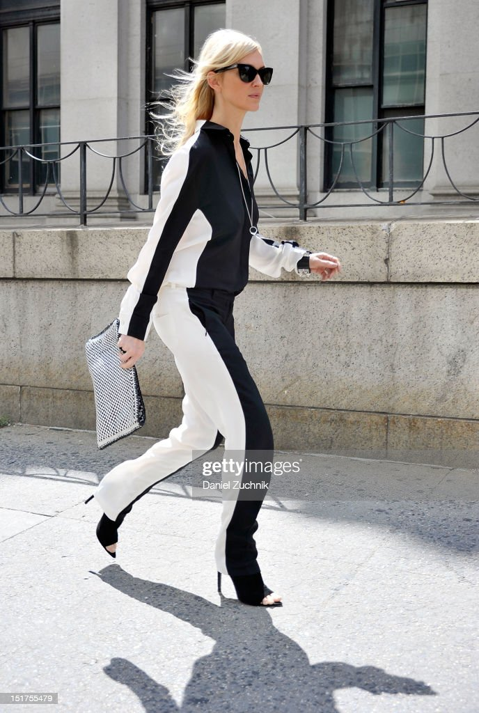 Guests seen outside the Theyskens Theory show on September 10, 2012 in New York City.