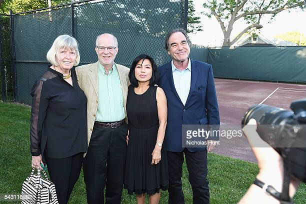 Guests Sunjung Jung and Director Oliver Stone attend the Screenwriters Tribute at the 2016 Nantucket Film Festival Day 4 on June 25 2016 in Nantucket...