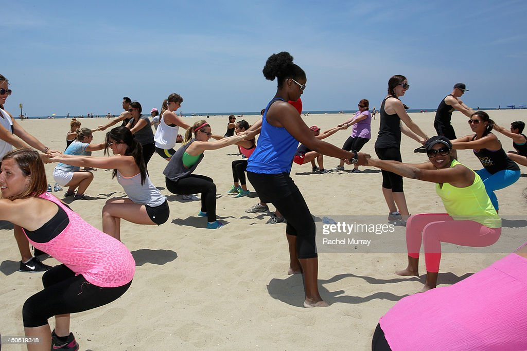 Guests try Get Swol at OK! Body & Soul 2014 at The Casa Del Mar Hotel on June 14, 2014 in Santa Monica, California.