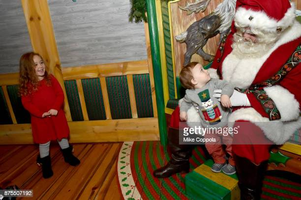 Guests visit Santa at Macy's Herald Square Santaland on November 17 2017 in New York City
