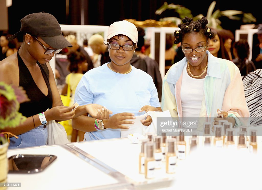 Guests visit the Cover Girl station at Fashion And Beauty @BETX presented by Progressive, Covergirl, Strength of Nature, Korbel and Macy's during the 2016 BET Experience on June 25, 2016 in Los Angeles, California.