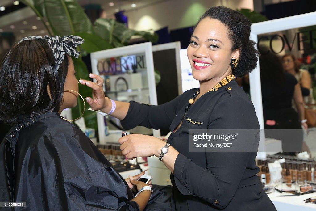 Guests visit the Covergirl station at Fashion And Beauty @BETX presented by Progressive, Covergirl, Strength of Nature, Korbel and Macy's during the 2016 BET Experience on June 25, 2016 in Los Angeles, California.