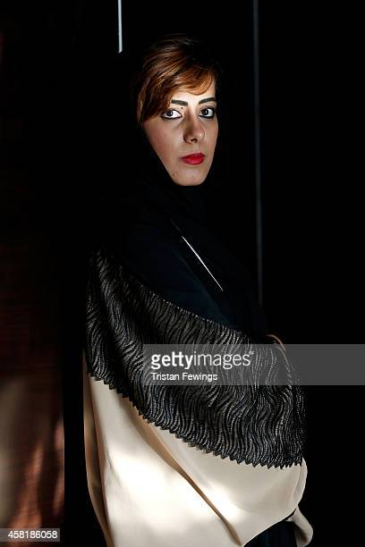 Guests visit the Fashion lounge during the Vogue Fashion Dubai Experience on October 30 2014 in Dubai United Arab Emirates