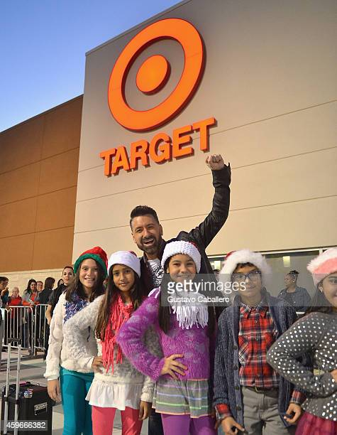 Guests waiting in line to shop Black Friday deals at Target Dadeland South in Miami were surprised by Telemundo host Jorge Bernal and a group of...