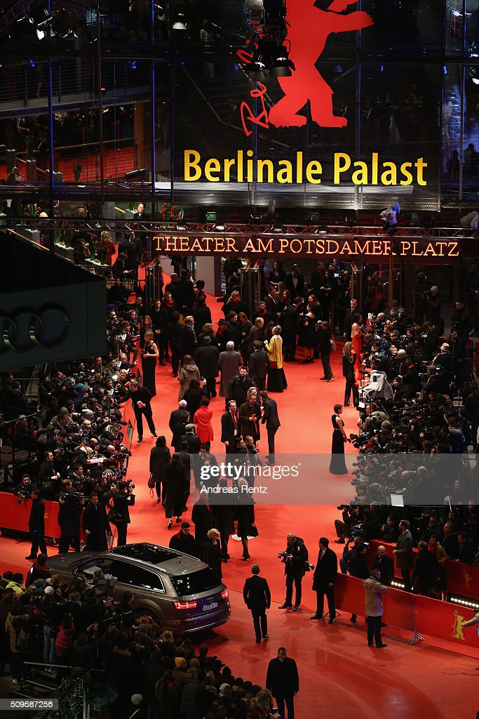 Guests walk on the red carpet at the 'Hail, Caesar!' premiere during the 66th Berlinale International Film Festival Berlin at Berlinale Palace on February 11, 2016 in Berlin, Germany.